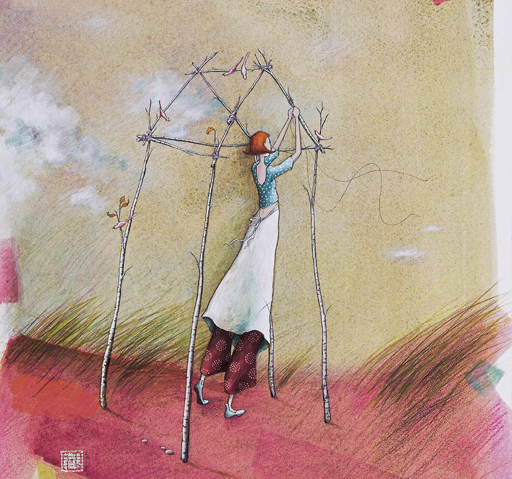 Bâtir sa vie illustration Gaelle Boissonnard